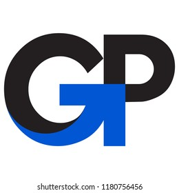 """Letters """"GP"""" With Arrow Logo"""