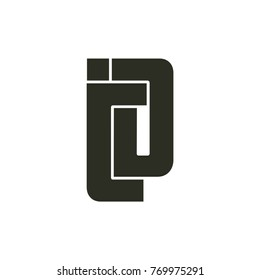 letters id or jd logo vector