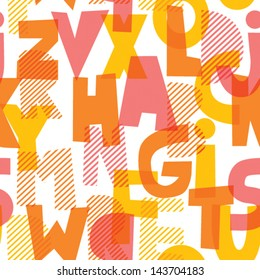 Letters illustration seamless vector pattern