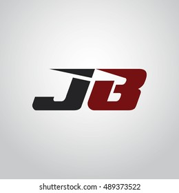 The letters J and B logo automotive black and red colored
