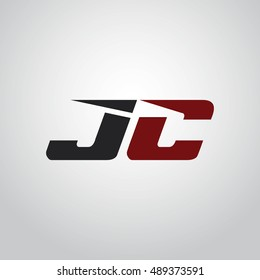The letters J and C logo automotive black and red colored