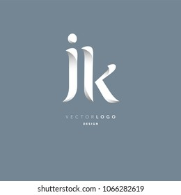 Letters J & K joint logo icon vector element.