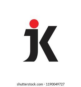letters jk linked logo vector