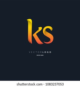 Letters K & S joint logo icon vector element.