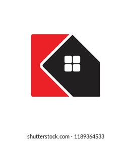 letters KA home design logo vector