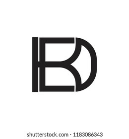 letters kd linked overlapping design logo
