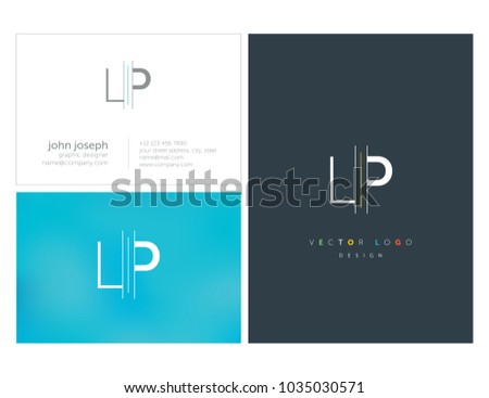 letters l p l p joint stock vector royalty free 1035030571