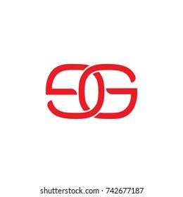letters eg linked logo vector