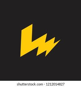 letters lm thunder energy logo vector