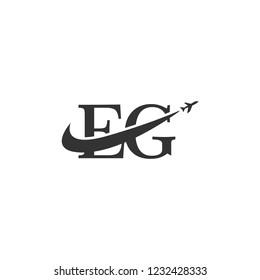 letters eg logo template