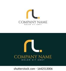letters lr geometric design logo vector