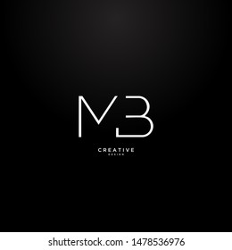 Letters MB logo with a simple and elegant design.  the concept of using elegant and luxurious line art.  suitable for clothing brands or clothing stores.