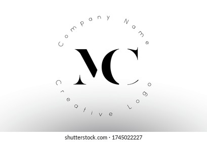 Letters MC M C Logo with a minimal design. Simple MC M C Icon with Circular Name Pattern. Creative Stamp Vector Illustration with letters M and C.