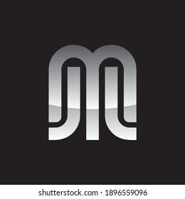 Letters MJL, letter M, letters JL, organized in a stylish way