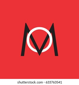 letters mo design logo vector