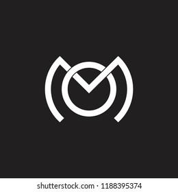 letters mo monogram linked design logo
