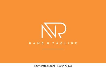 Letters monogram icon logo NR,RN,R and N