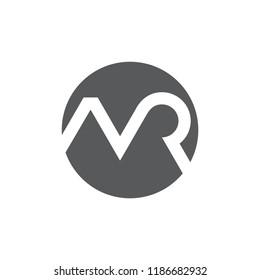 letters mr monogram circle logo