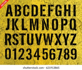 Letters and numbers painted stencils