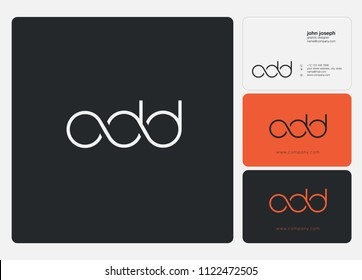 Letters ODD logo icon with business card vector template.