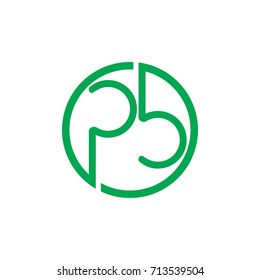 letters p b in circle logo vector