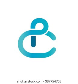 Letters P and C logo template. Creative design concept.