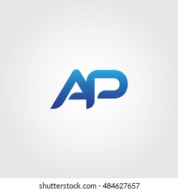 The letters A and P combined Icon Logo Templates. AP Initial Vector Design Element For Download