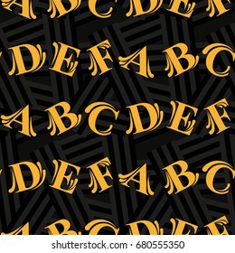 Letters  pattern. Background texture.  Vector illustration.