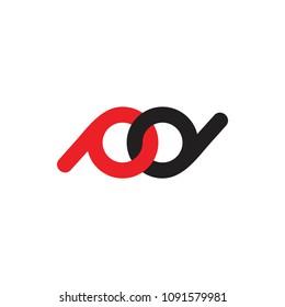 letters pd linked loop design logo vector