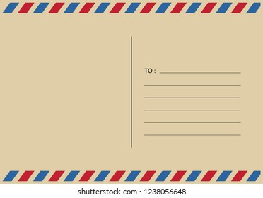letters and postmarks, airmail designs vector illustration