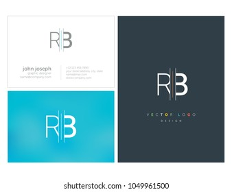 Letters R B, R & B joint logo icon with business card vector template.