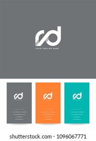 Letters R & D logo icon with business card vector template.