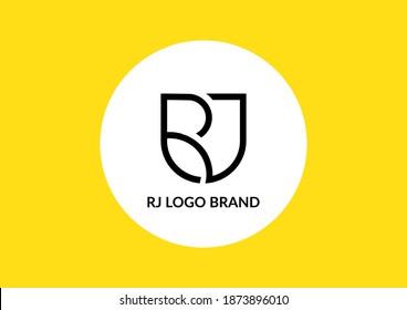 Letters RJ logo design concept