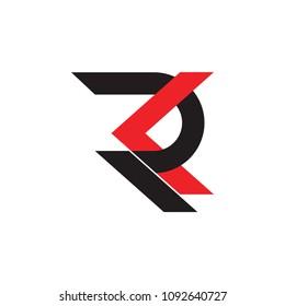 letters rk linked geometric design logo vector