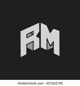 r m logo images stock photos vectors shutterstock https www shutterstock com image vector letters rm 3d design logo vector 657261745