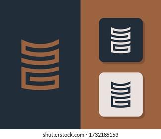 Letters S and G or SG line logo design. Linear minimal stylish emblem. Luxury elegant vector element. Premium business logotype. Graphic alphabet symbol for corporate business identity