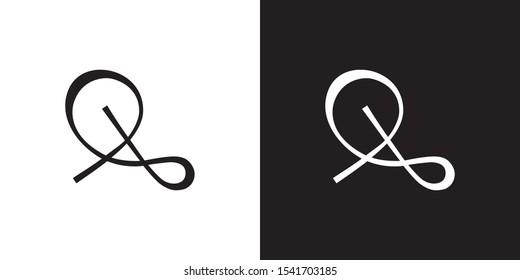 Letters SA, SA logo with script minimal style - unique vector symbols