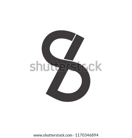 Letters Sb Infinity Lines Logo Stock Vector Royalty Free