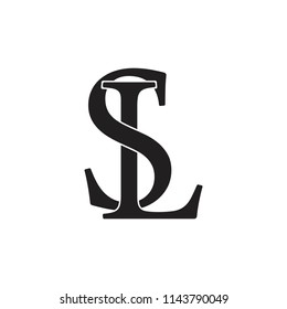 letters sl linked monogram logo vector