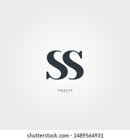 Letters SS logo is simple and elegant. suitable for clothing or boutique brand logos.