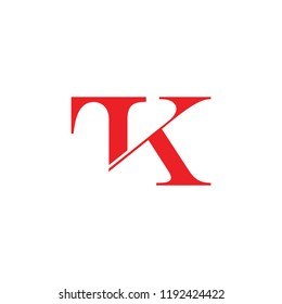 letters tk linked design logo vector