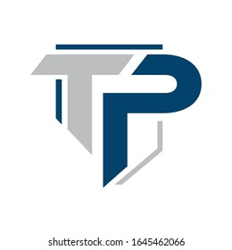 Letters TP combination logo icon vector template illustrations