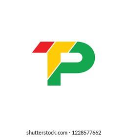 letters tp stripes colorful geometric logo