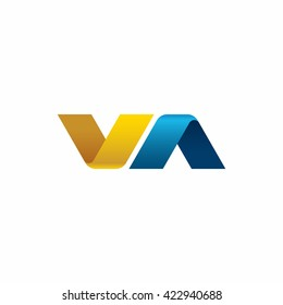 letters V and A logo design template