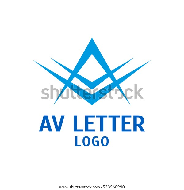 Letters A and V logo design vector template. Vector logo of the stylized letters A and V.