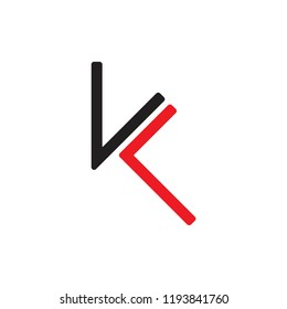 letters vk simple logo vector