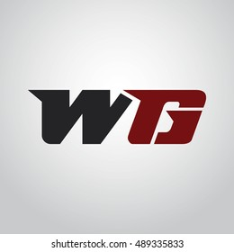 The letters W and G logo automotive black and red colored