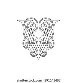 Letters,v,font, alphabet