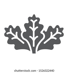 Lettuce glyph icon, vegetable and organic, salad sign, vector graphics, a solid pattern on a white background, eps 10.