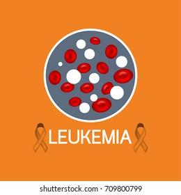 Leukemia vector icon illustration